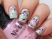 Làm đẹp - Hướng dẫn vẽ nail hoa đào cực xinh đón Tết