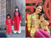 Làng sao - Con gái Bình Minh, Hương Giang xúng xính áo dài đón Tết