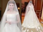Cận cảnh váy cưới trăm triệu tuyệt đẹp của Ngân Khánh