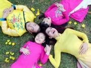 Thời trang - Gia đình Việt Hương, Thúy Hạnh, Bình Minh mặc áo dài du xuân