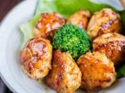 Bếp Eva - Thịt gà viên chiên sốt Teryaki đầy hấp dẫn