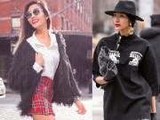 """Thời trang - """"Nín thở"""" ngắm Hoàng Thùy trên đường phố New York"""