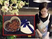 Làng sao - Tâm Tít bụng bầu 4 tháng làm socola tặng chồng