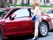 Làng sao - Minh Hằng lái xe 6 tỷ dạo phố ngày cận Tết