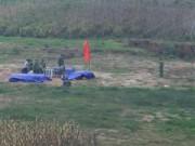 Tin tức - HN: Dàn pháo hoa bãi giữa sông Hồng sẵn sàng chờ giao thừa