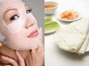 Làm đẹp - Chế biến bánh tráng thành mặt nạ dưỡng da