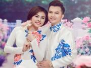 Làng sao - Vân Trang diện áo dài e ấp bên cạnh Nam Cường
