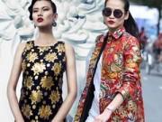 """Thời trang - Sao Việt rộ """"cơn sốt"""" vải gấm"""