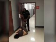 Tin tức - Cảnh sát kéo tù nhân vào tòa bằng dây xích chân