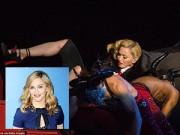 Hậu trường - Madonna bị kéo ngã trên sân khấu BRIT Awards