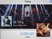 """Làng sao - Fanpage của Sơn Tùng M-TP đạt kỷ lục 6 triệu lượt """"like"""""""