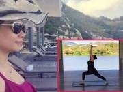 Làng sao - Thu Minh hăng say tập yoga khi mang bầu 6 tháng