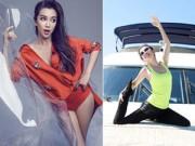 Dáng đẹp - Lý Băng Băng khoe dáng thon với yoga trên du thuyền