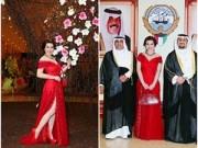 Hậu trường - HH Kim Hồng lộng lẫy đi dự Quốc khánh Kuwait
