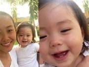 """Hậu trường - Ngắm """"nụ cười thiên thần"""" của con gái Đoan Trang"""