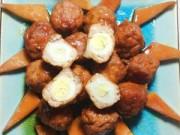 Thực đơn – Công thức - Thịt mọc bọc trứng cút kho nước dừa