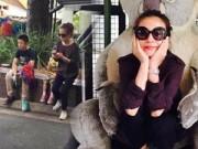 Làng sao - Triệu Vy đưa con gái Huỳnh Tân đi du lịch Úc