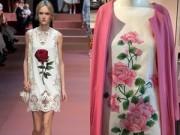 Thời trang - NTK Đỗ Mạnh Cường 'đụng' ý tưởng hoa hồng với D&G