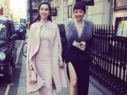 Thời trang - Tóc Tiên đọ độ sang chảnh với Hà Hồ tại London