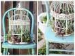 Tin tức nhà đẹp - Vườn treo xương rồng tận dụng lồng chim cũ
