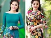 Thời trang - Vân Trang, Khánh Ngọc duyên dáng áo dài 'hoa đồng nội'