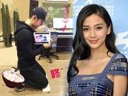 """Làng sao - Huỳnh Hiểu Minh bị bạn gái """"phạt"""" vì đóng cảnh thân mật"""