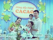 Làng sao - Ốc Thanh Vân làm tiệc giản dị mừng đầy tháng bé Cacao