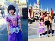 Làng sao - Con gái Thúy Nga xinh như nàng tiên cá đi thăm Disneyland