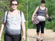 Bà bầu - Siêu mẫu vác bụng bầu 8 tháng đi bộ 10 km