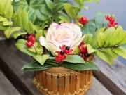 Món ngon - Tỉa hoa hồng từ củ cải trắng siêu đẹp