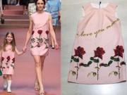 Thời trang - Chị em Việt sốt với váy hoa hồng của Dolce&Gabbana