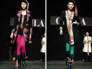 Thời trang - Hoa hậu Thùy Dung đi ủng trên sàn diễn thời trang