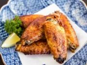 Thực đơn – Công thức - Ai cũng mê cánh gà nướng muối tiêu
