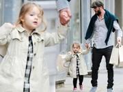 Hậu trường - Harper đáng yêu tung tăng đi mua sắm cùng bố