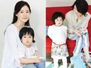Hậu trường - Con gái Lee Young Ae xinh đẹp di truyền từ mẹ