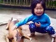 Tin trong nước - Xúc động với bức ảnh bé gái nức nở bên chú chó bị giết thịt
