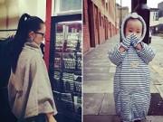 Làng sao - Linh Nga sành điệu đưa con gái đi du lịch London