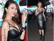 """Làng sao sony - Việt My cá tính, sexy khoe hình xăm """"bí ẩn"""""""
