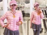 Làng sao sony - Lưu Hiểu Khánh diện váy ngắn điệu như thiếu nữ