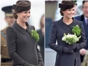 Bà bầu - Công nương Kate bầu 8 tháng vẫn đẹp hút hồn