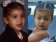 Làng sao sony - Kim Kardashian khoe ảnh con gái giống hệt mẹ