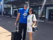 Làng sao - Vợ chồng Bình Minh - Anh Thơ tình cảm ở sân bay