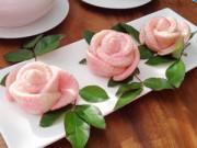 Bếp nhà tôi  - Bánh bao hoa hồng thơm ngon, đẹp mắt