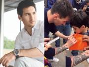 Làm đẹp - Messi khoe hình xăm mới trước trận siêu kinh điển