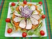 Bếp nhà tôi  - Nộm gà rán giản dị mà ngon