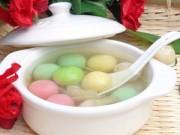 Thực đơn – Công thức - Làm chè trôi nước ngũ sắc từ sữa hoa quả