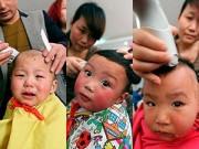 Làm mẹ - Chùm ảnh biểu cảm hài hước của trẻ khi được cắt tóc