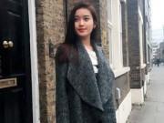 Hậu trường - Huyền My khoe vẻ sành điệu tại London