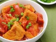 Thực đơn – Công thức - Đậu phụ sốt cà chua đơn giản ngày mưa