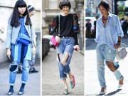 Thời trang - 'Chạm mặt' những cô nàng phát cuồng vì jeans rách